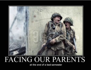 Facing our parents poster