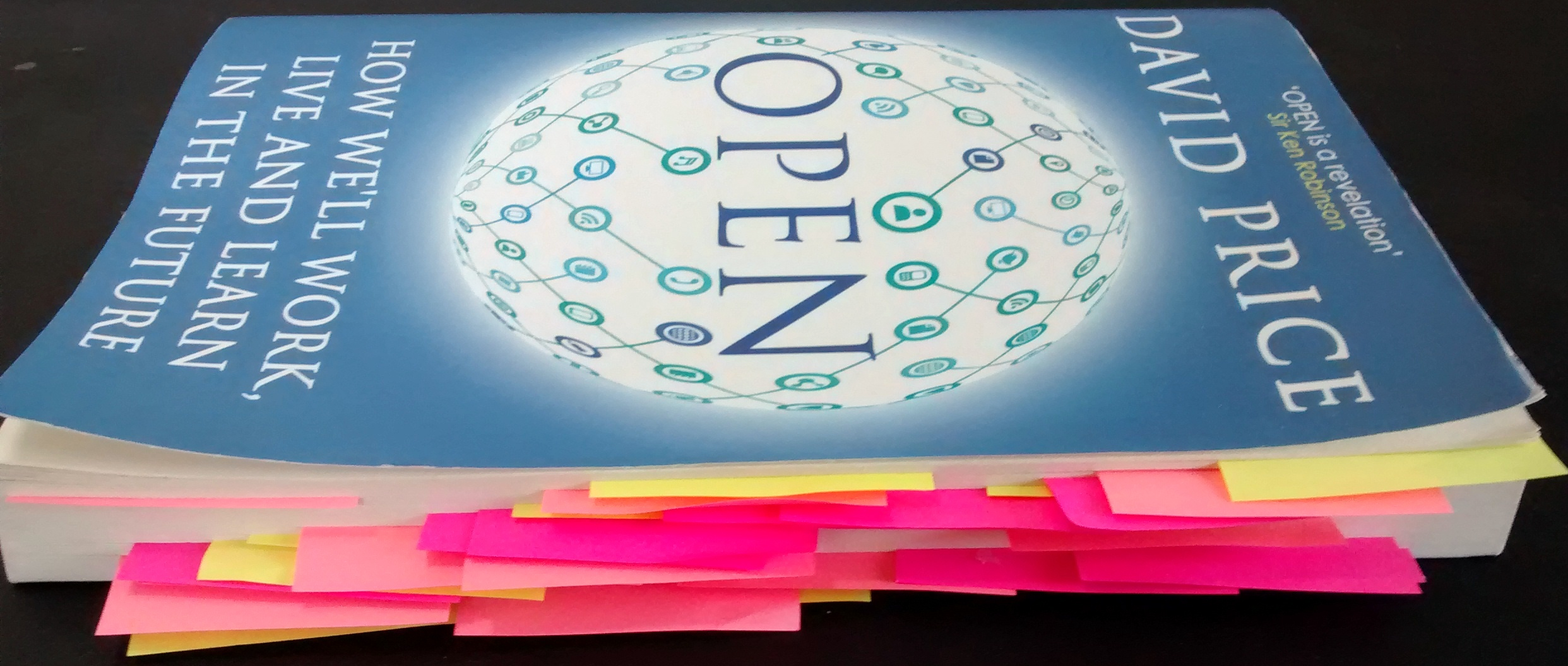 OPEN with post-its